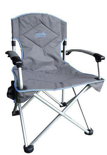 """Кресло складное Norfin """"Oriversi"""" NFL Alu"""", цвет: серый, голубой, 67 см х 61 см х 98 см"""