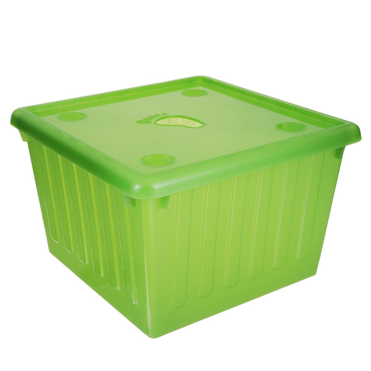 Контейнер для хранения Алеана, цвет: зеленый, 25 л122043_зеленыйКонтейнер для хранения Алеана выполнен из высококачественного цветного пластика. Контейнер снабжен удобной крышкой с декоративным отверстием, выполненным в виде отпечатка ступни. Вместительный контейнер позволит сохранить различные нужные вещи в порядке, а крышка защитит содержимое от пыли и грязи.