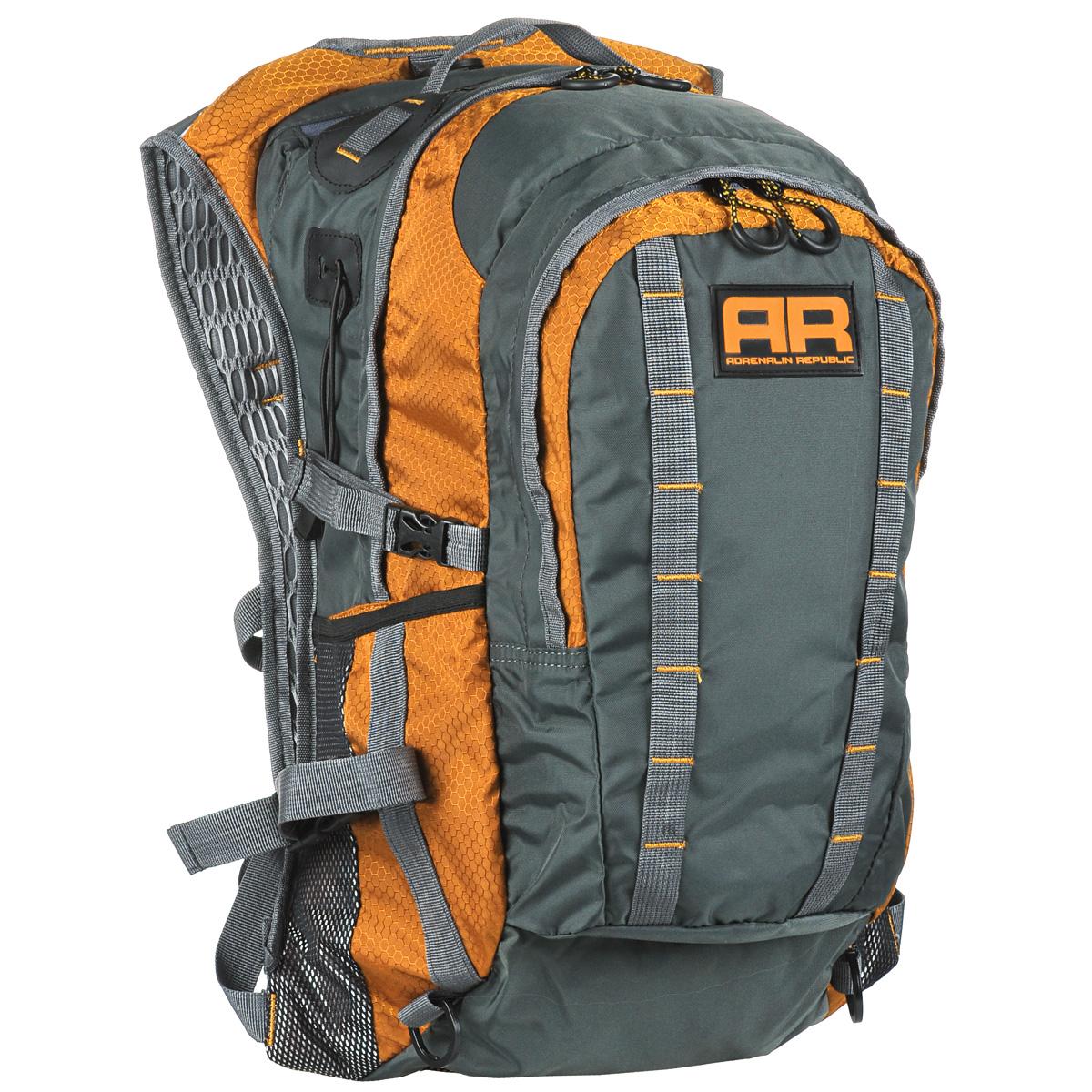 Рюкзак Adrenalin Republic Backpack XL, цвет: оранжевый, серый, 40 л80770Рюкзак Adrenalin Republic Backpack XL – это легкий, вместительный и прочные рюкзак со множеством дополнительных карманов. Собрались на продолжительную рыбалку? Подвесная система рюкзака Adrenalin Republic Backpack XL не стесняет маневренность, а при помощи быстрой регулировки длины плечевых лямок вы равномерно распределите переносимый вес. Оригинальный дизайн, износостойкие материалы и удобная конструкция рыболовного рюкзака Adrenalin Republic Backpack XL означают комфорт и незабываемые дни, проведенные на рыбалке.