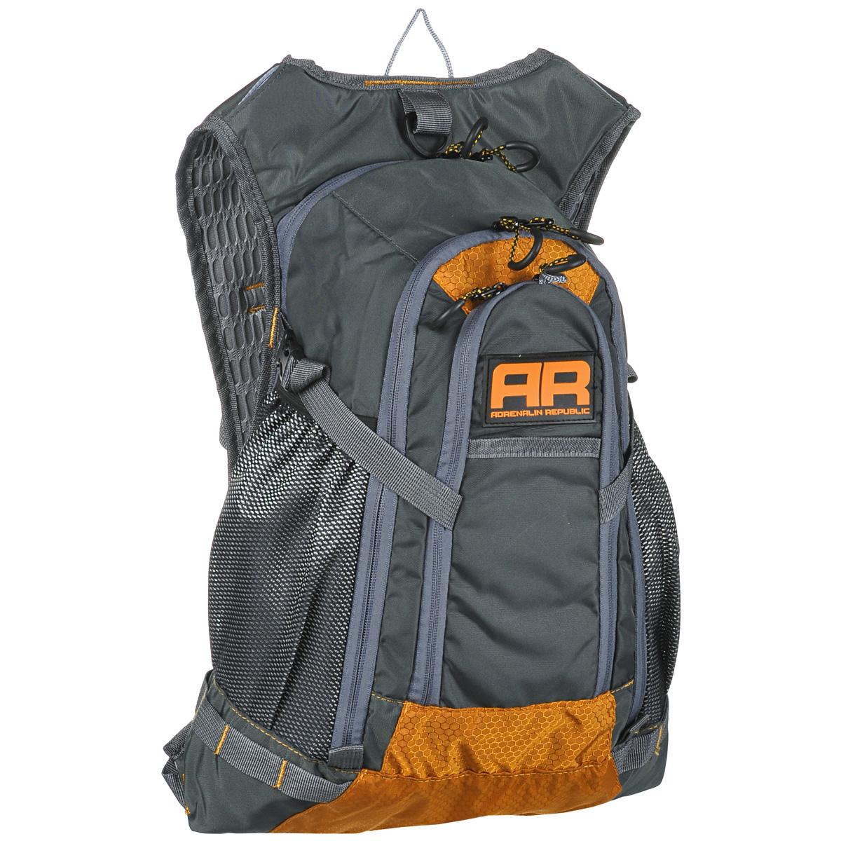 Рюкзак Adrenalin Republic Backpack L, цвет: оранжевый, серый, 25 л