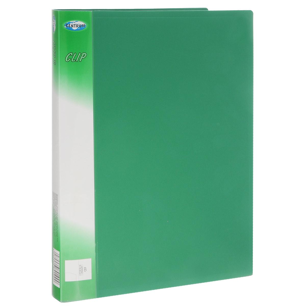 Centrum Папка Clip с боковым зажимом цвет зеленый80100Папка с боковым зажимом Centrum Clip - это удобный и практичный офисный инструмент, предназначенный для хранения и транспортировки рабочих бумаг и документов формата А4. Папка изготовлена из высококачественного плотного полипропилена и оснащена металлическим зажимом и внутренним кармашком. Папка с боковым зажимом - это незаменимый атрибут для студента, школьника, офисного работника. Такая папка надежно сохранит ваши документы и сбережет их от повреждений, пыли и влаги.