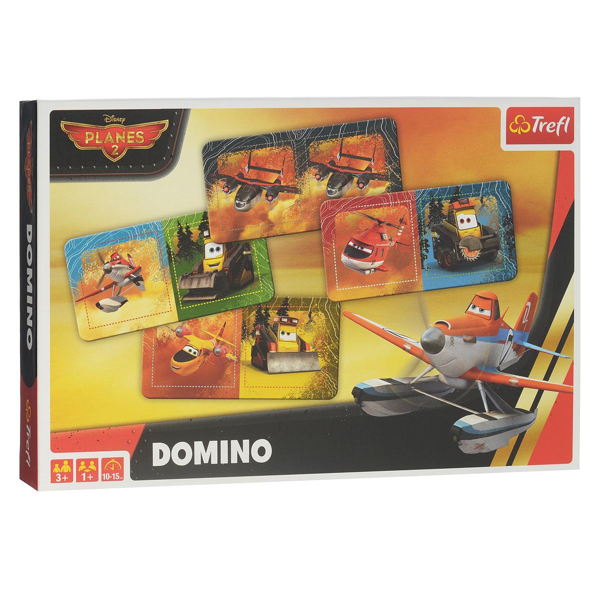 Домино Trefl Самолеты 201152TДомино Trefl Самолеты 2 станет отличным подарком для маленького поклонника знаменитого мультфильма. Комплект игры включает в себя 28 фишек плотного картона с красочными изображениями персонажей мультфильма Самолеты. Правила игры расположены на обратной стороне упаковки. В свой ход, каждый игрок должен добавить в цепочку из фишек одну их своих фишек так, чтобы изображение на ней подошло к изображению на конце цепи. Если в руках у игрока нет подходящей фишки - он берет дополнительные, до тех пор, пока не попадется нужная. Выигрывает тот, кто первым выложит все свои фишки. Игра в домино не только подарит малышу множество веселых мгновений, но и поможет познакомиться с новыми словами, а также развить внимательность, пространственное мышление и мелкую моторику.