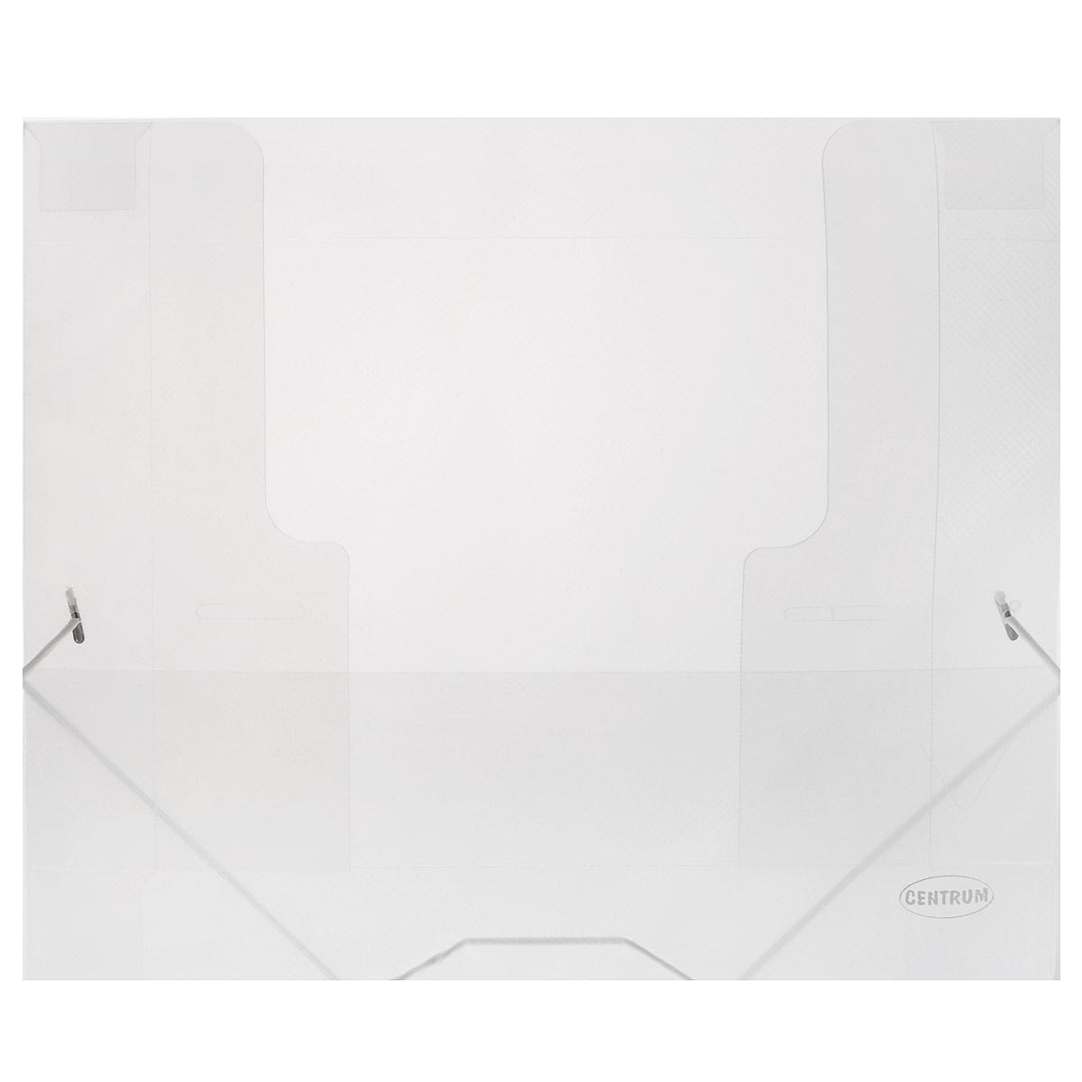 Папка на резинках Centrum пластиковая, формат А4, цвет: прозрачный80020Папка на резинке Centrum станет вашим верным помощником дома и в офисе. Это удобный и функциональный инструмент, предназначенный для хранения и транспортировки больших объемов рабочих бумаг и документов формата А4. Она изготовлена из износостойкого высококачественного пластика. Папка - это незаменимый атрибут для любого студента, школьника или офисного работника. Такая папка надежно сохранит ваши бумаги и сбережет их от повреждений, пыли и влаги.