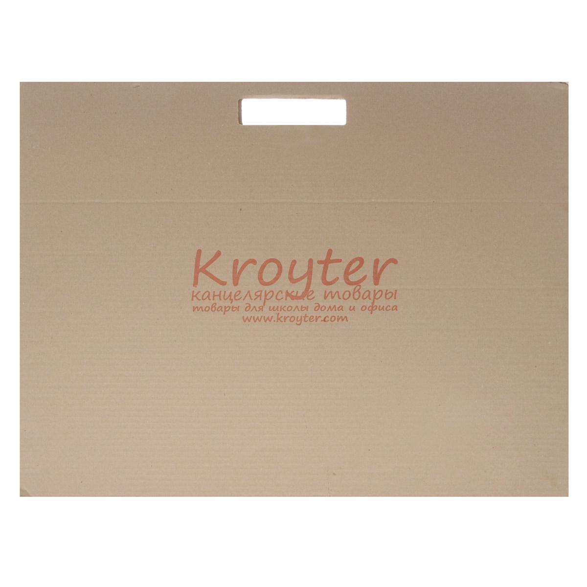 Папка для черчения Kroyter, 10 листов, формат А205329Папка для черчения Kroyter содержит 10 листов плотной бумаги, предназначенной для черчения и рисования водорастворимыми красками, карандашами, мелками, ручками. Не рекомендуется для масляных красок. Обложка выполнена из гофрированного картона в виде папки-переноски с ручками, такой вариант позволяет переносить бумагу без повреждений или хранить в ней уже выполненные работы. Формат: А2 (420 х 594).
