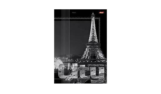 96Т4B4 Тетрадь 96л А4ф линия на скобе серия -City Collection- PARIS96Т4B4ПарижТетради А4 на скобе 96 листов. Обложка – мелованный картон, скрепление – скоба.