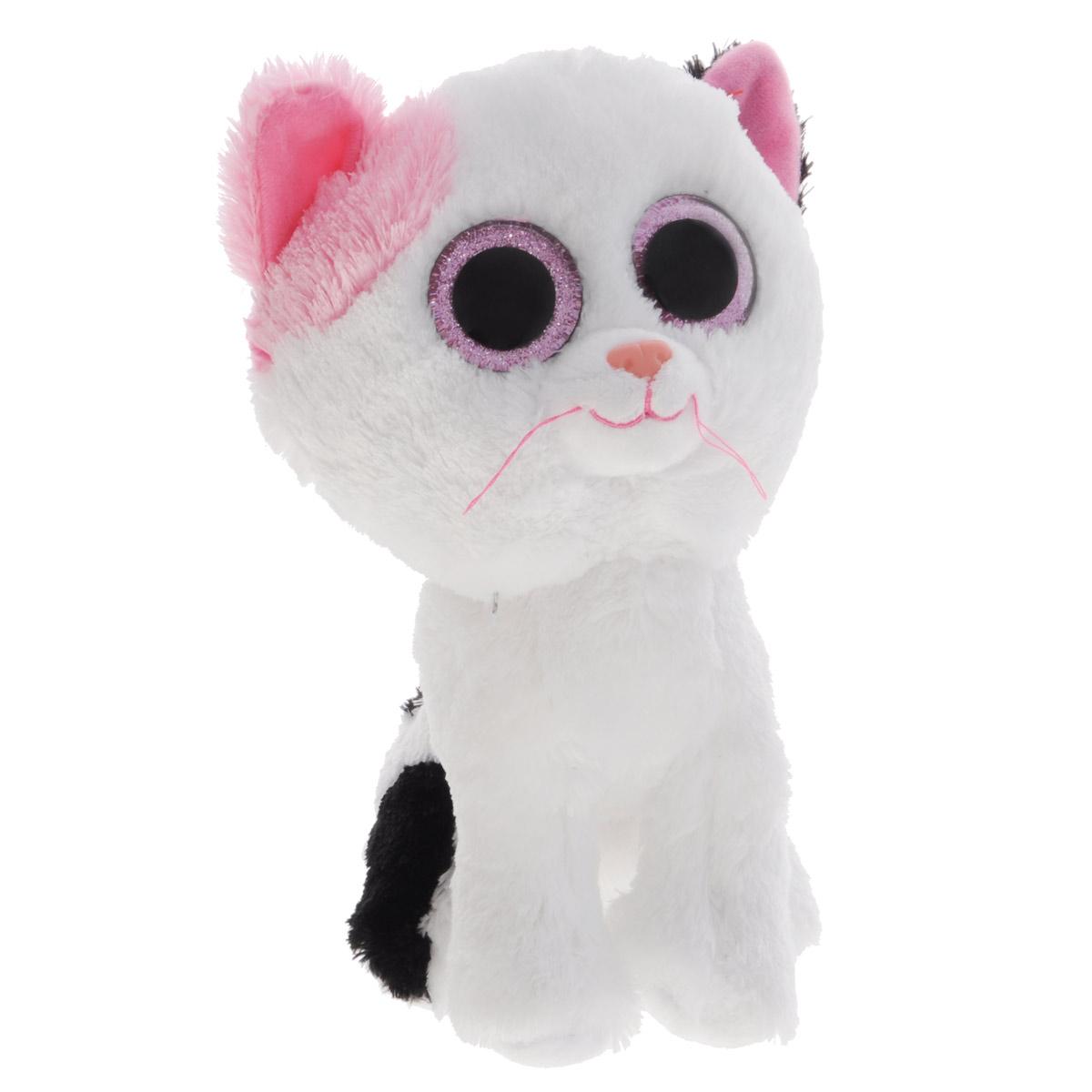 Мягкая игрушка Beanie Boos Котенок Muffin, 23 см36986Мягкая игрушка Beanie Boos Котенок Muffin выполнена в виде милого котенка. Оригинальная мягкая игрушка способна развеселить как ребенка, так и взрослого. Глазки и носик у игрушки пластиковые. Игрушка невероятно мягкая и приятная на ощупь, вам не захочется выпускать ее из рук. Специальные гранулы, используемые при ее набивке, способствуют развитию мелкой моторики рук малыша. Великолепное качество исполнения делают эту игрушку чудесным подарком к любому празднику. Детям от 3 лет до 10 лет.