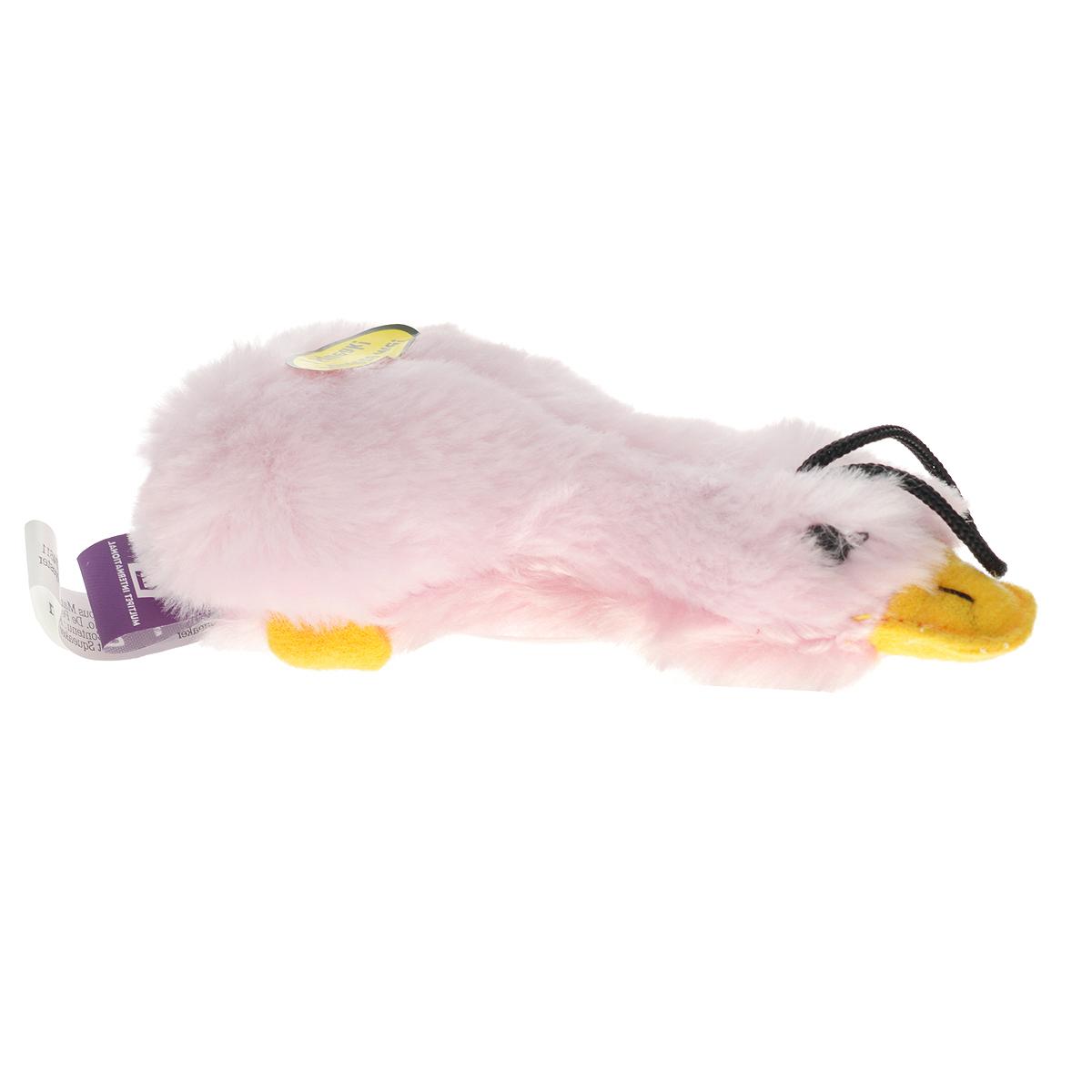Игрушка для животных Multipet Утка, с пищалкой, цвет: розовый12-37706Игрушка Multipet Утка, изготовленная из искусственного меха, предназначена для собак и кошек различных пород. Игрушка при надавливании или захвате пастью пищит. Такая игрушка порадует вашего любимца, а вам доставит массу приятных эмоций, ведь наблюдать за игрой всегда интересно и приятно.