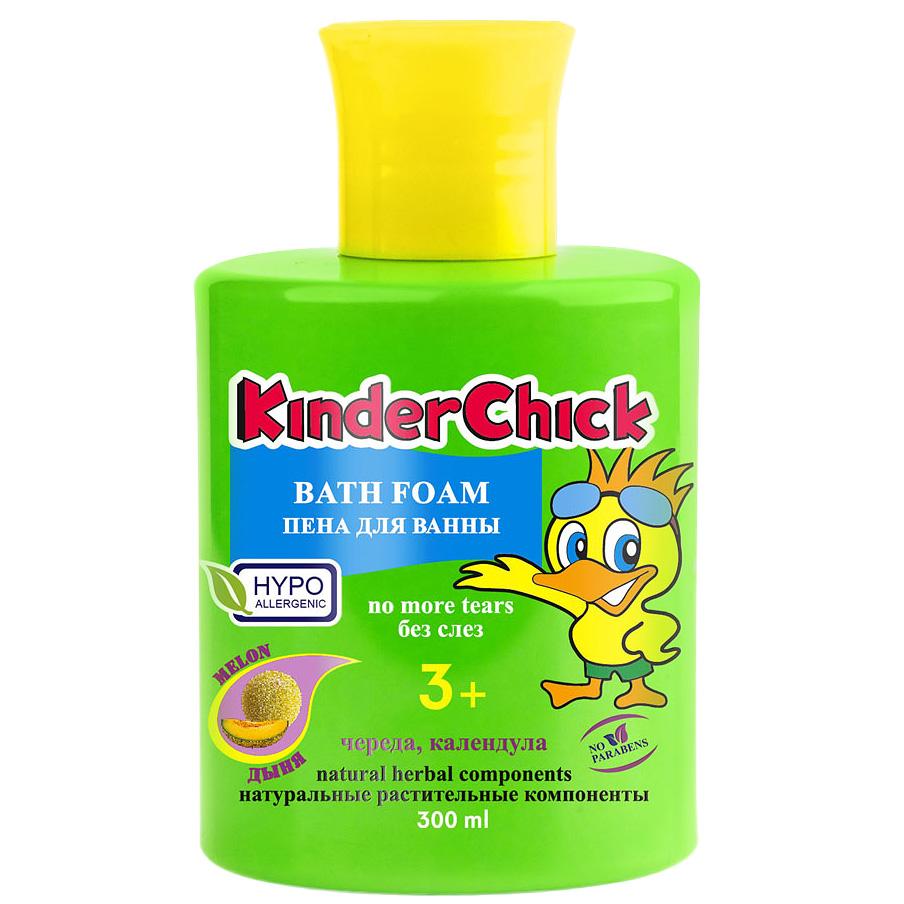 Kinder Chick Детская пена для ванны Дыня, 300 млKCH09Детская пена для ванны Kinder Chick Дыня со вкусным ароматом дыни обязательно понравится вам и вашему ребенку. Пена содержит натуральные растительные экстракты календулы и череды. Без красителей и парабенов, pH-нейтральный. Гипоаллергенно. Разработана специально для мягкого очищения чувствительной детской кожи. Не раздражает кожу, не сушит её, формула без слез не щиплет глазки. Идеально подходит и для взрослых. Товар сертифицирован.