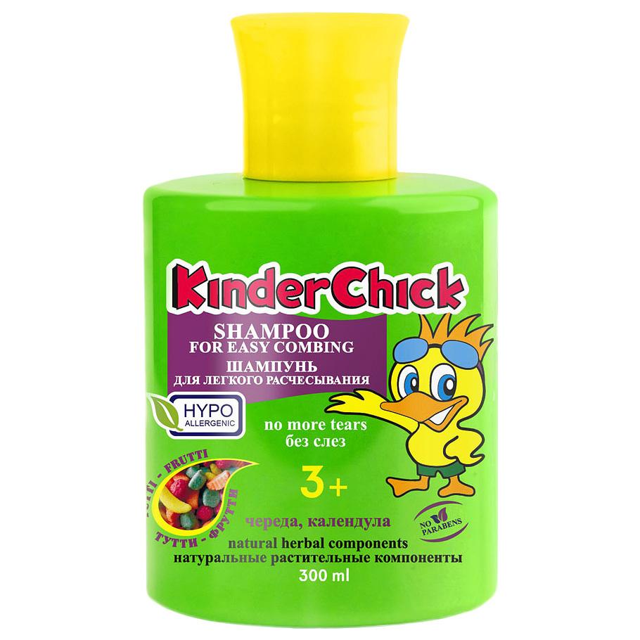 Kinder Chick Детский шампунь без слез Тутти-фрутти, для легкого расчесывания, 300 мл (KinderChick)