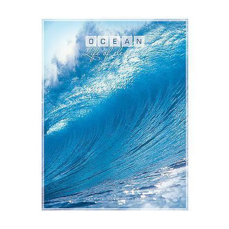 Тетрадь 96л А5ф клетка на скобе серия Океан, Волна96Т5B1_волнаТетрадь 96л А5ф клетка на скобе серия Океан, Волна