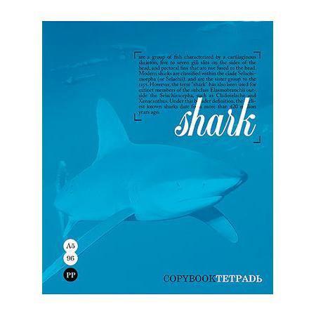 Тетрадь 96л А5ф клетка на скобе серия Тайны природы, цвет: синий Shark96Т5B1_синийТетрадь 96л А5ф клетка на скобе серия Тайны природы, цвет: синий Shark