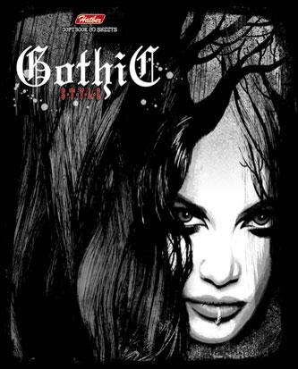 Тетрадь 80л А5ф на скобе серебро серия -Gothic Style- (серьга в губе)