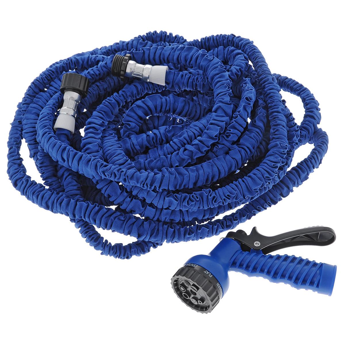 Шланг садовый Mayer & Boch, цвет: синий, 45 м45-4_синийСадовый шланг Mayer & Boch - это прекрасный шланг, удлиняющийся в 3 раза. Подключите шланг к крану и можете приступать к использованию. Очень легкий вес, что делает шланг еще более удобным в эксплуатации. Внутри шланг выполнен из латекса, снаружи полиэстер. Шланг подходит как для полива рассады, цветов, газонов, так и для мытья машины. Особенности: - удобный и легкий, - растягивается в длину при поступлении воды, - автоматически возвращается в исходный размер, - подключается к стандартным кранам, - не перекручивается, не заламывается, не путается, - гибкий, - удобная сборка, - удлиняется в 3 раза. Распылительные насадки в комплект не входят. Длина шланга без воды: 15 м. Длина шланга при наполнении водой: 45 м.