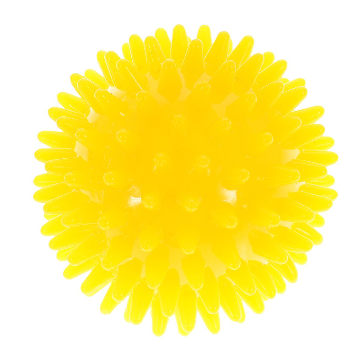 Игрушка для собак V.I.Pet Массажный мяч, цвет: желтый, диаметр 7 смBL11-015-70Игрушка для собак V.I.Pet Массажный мяч, изготовленная из ПВХ, предназначена для массажа и самомассажа рефлексогенных зон. Она имеет мягкие закругленные массажные шипы, эффективно массирующие и не травмирующие кожу. Игрушка не позволит скучать вашему питомцу ни дома, ни на улице. Диаметр: 7 см.