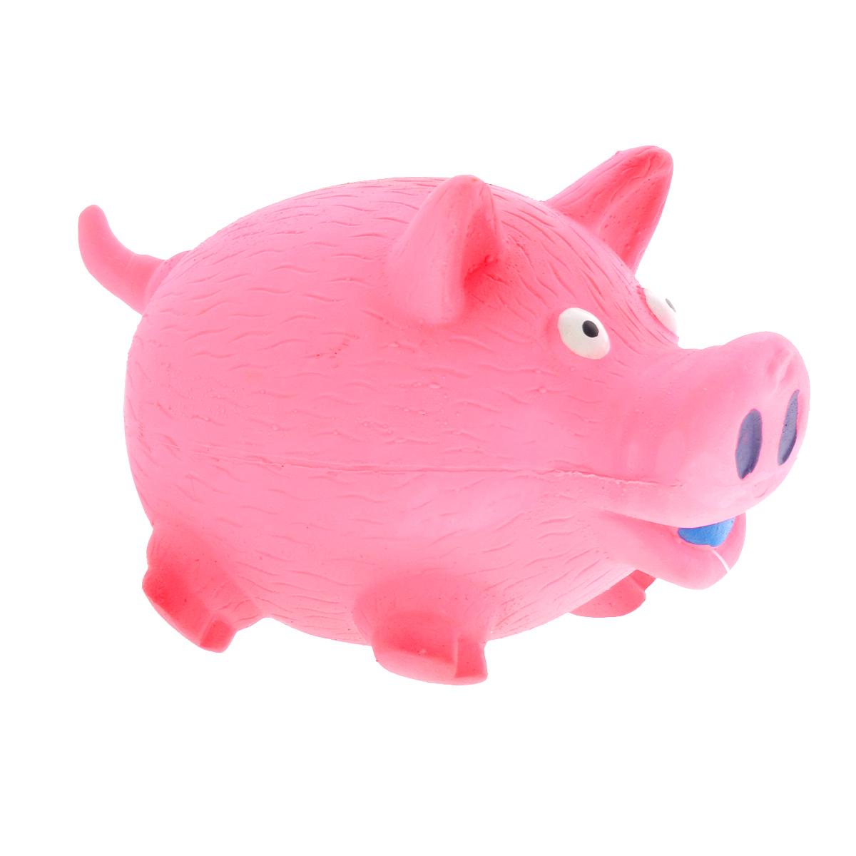 Игрушка для собак V.I.Pet Поросенок, цвет: розовыйL-143Игрушка V.I.Pet Поросенок изготовлена из латекса с использованием только безопасных, не токсичных красителей. Великолепно подходит для игры и массажа десен вашей собаки. Забавный поросенок при надавливании или захвате пастью пищит. Такая игрушка порадует вашего любимца, а вам доставит массу приятных эмоций, ведь наблюдать за игрой всегда интересно и приятно. Оставшись в одиночестве, ваша собака будет увлеченно играть в эту игрушку.