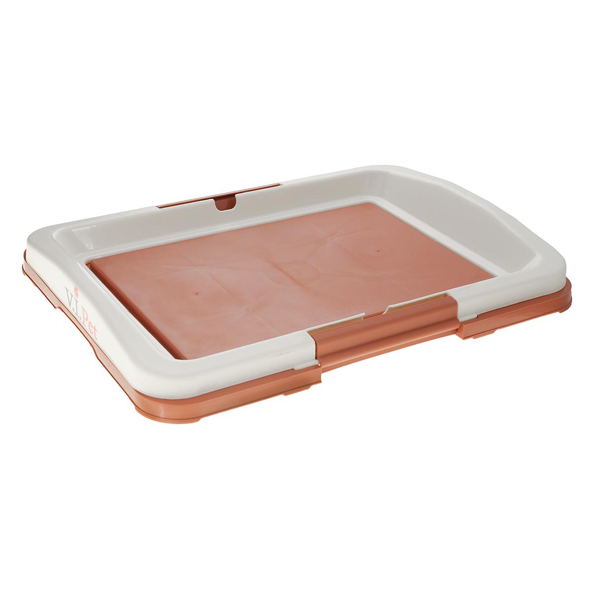 """Туалет для собак V.I.Pet """"Японский стиль"""", цвет: коричневый, молочный, 48 х 35 х 5 см"""