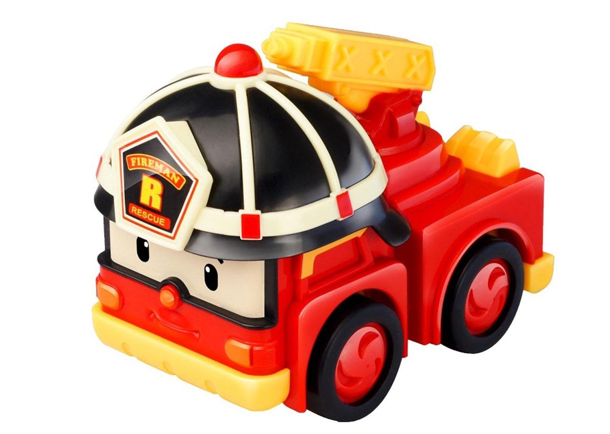 Robocar Poli Игрушка-трансформер Рой с аксессуарами83093Яркая игрушка-трансформер Poli Рой непременно понравится вашему малышу. Она выполнена из прочного пластика в виде Роя - персонажа популярного мультсериала Robocar Poli. Рой - пожарная машина города Брум. Со своими друзьями он всегда готов прийти на помощь. Робот может трансформироваться в машину. В комплект с игрушкой входят: огнетушитель, брандспойт и подъемник. Световые и звуковые эффекты сделают игру реалистичнее и увлекательнее. Порадуйте своего малыша таким замечательным подарком! Для работы игрушки необходимы 2 батарейки напряжением 1,5V типа LR44 (входят в комплект).