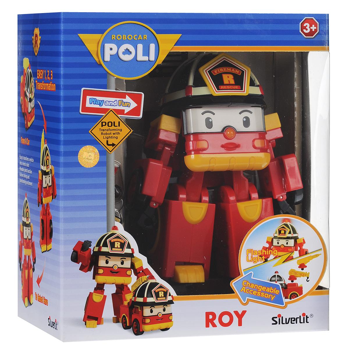 Robocar Poli Игрушка-трансформер Рой с аксессуарами