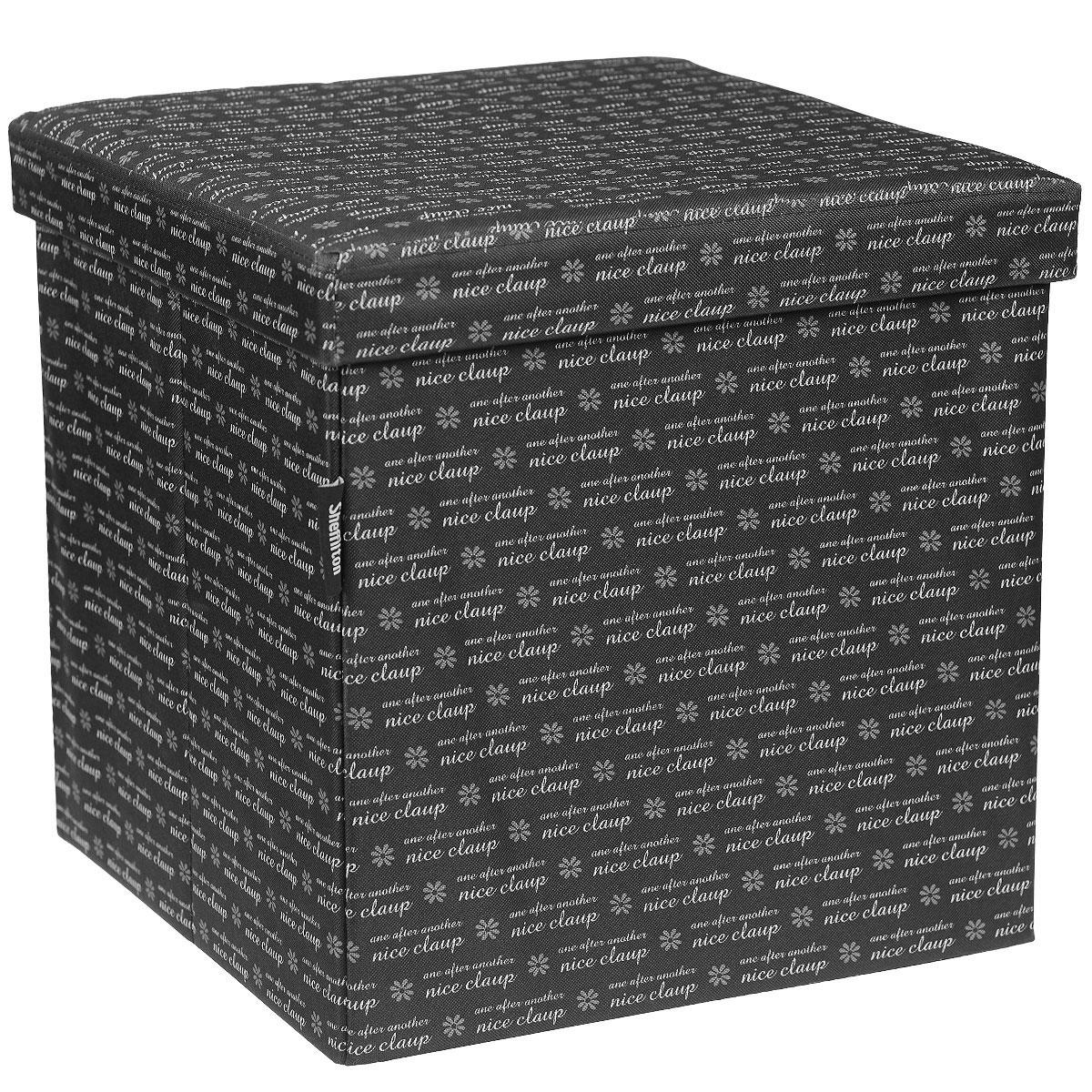 Банкетка складная Sheffilton, цвет: черный, 38 х 38 х 38 см SHT-FO6SHT-FO6Оригинальная складная банкетка Sheffilton идеально впишется в интерьер любой комнаты, прихожей и станет отличным дополнением на даче. Каркас банкетки изготовлен из МДФ и обит плотной тканью с рисунком. Может использоваться как мягкое посадочное место или столик. Верхняя часть открывается, позволяя использовать внутреннюю часть банкетки как дополнительное место для хранения необходимых вещей.