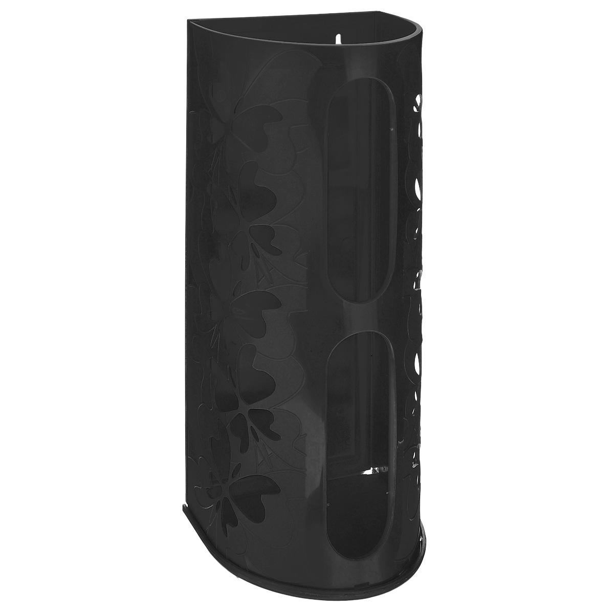 Корзина для пакетов Berossi Fly, цвет: черный, 16 см х 13 см х 37,5 смИК10305Корзина Berossi Fly выполнена из пластика и предназначена для хранения пакетов для продуктов. Изделие декорировано перфорацией в виде бабочек и крепится к стене при помощи трех саморезов (входят в комплект). Корзина легко собирается и разбирается. Имеет два отверстия, из которых удобно вынимать пакеты. Корзина Berossi Fly позволяет хранить пакеты в одном месте. Размер корзины (в собранном виде): 16 см х 13 см х 37,5 см.