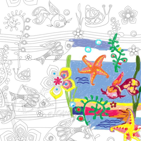 Раскраска-наклейка КвикДекор Рыбки, 50 см х 70 смCR-13-0004-2Раскраски печатаются на самоклеящемся полиэстере латексными чернилами, абсолютно не пахнут. Именно такой вид печати рекомендуется для детской продукции. Материал легко клеится на любую гладкую поверхность, включая мебель, стекло, плитку, а также виниловые обои (кроме бумажных обоев). Отлично переклеиваются и не оставляют следов. Размеры раскрасок позволяют одновременно играть сразу нескольким ребятишкам. Прекрасно раскрашиваются цветными карандашами, фломастерами, восковыми мелками, даже пластилином и красками. Дети выбирают сами - удобнее им красить картинки сразу на стене или заняться творчеством за столом, а потом наклеить на видное место готовую красоту! Раскраски-наклейки упакованы в картонные тубусы с жестяными крышечками. В таком виде они необычайно хороши для подарка и надежно сохраняются при транспортировке и хранении. А тубус потом можно использовать в хозяйстве и творчестве.