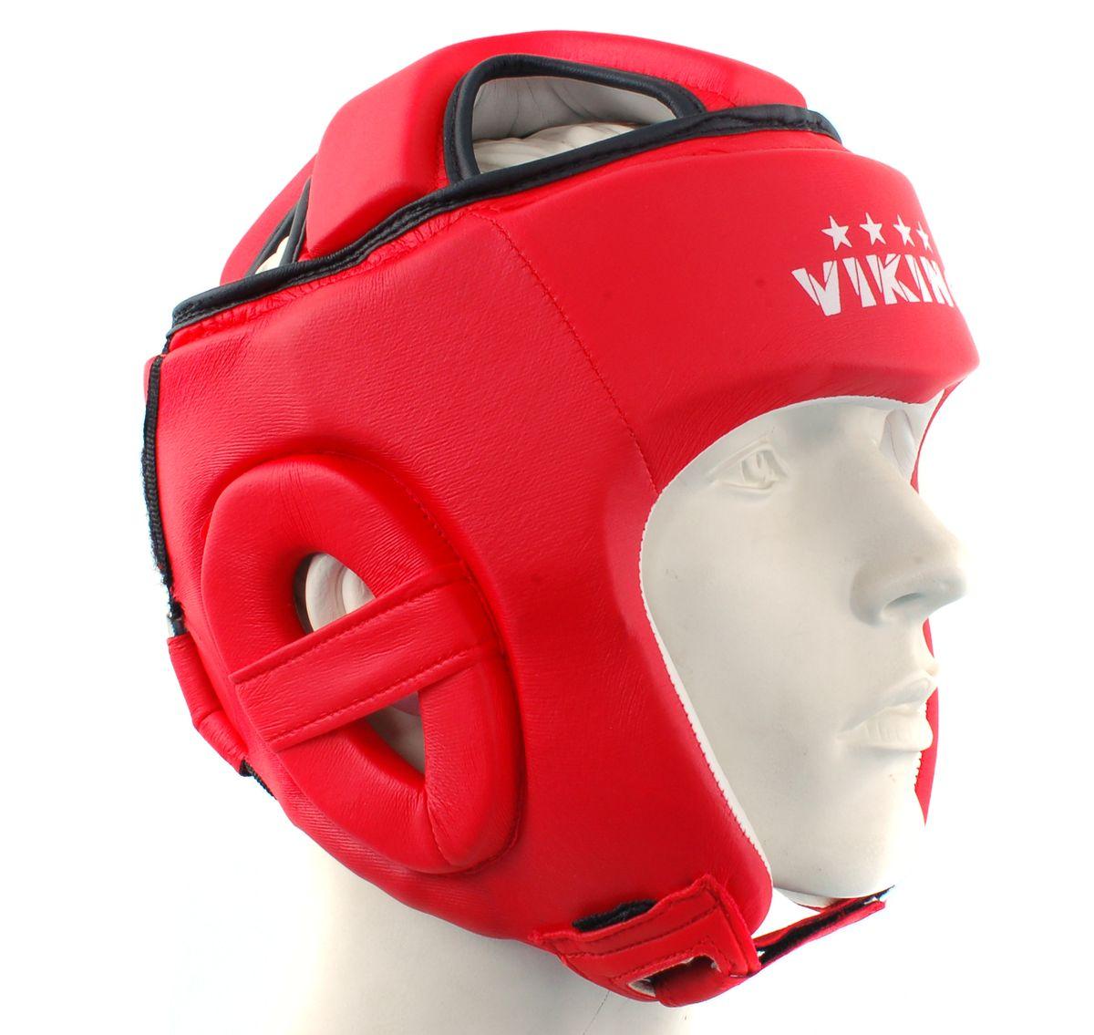 "Viking Шлем боксерский Viking ""Top Protection"", цвет: красный. Размер L/XL"