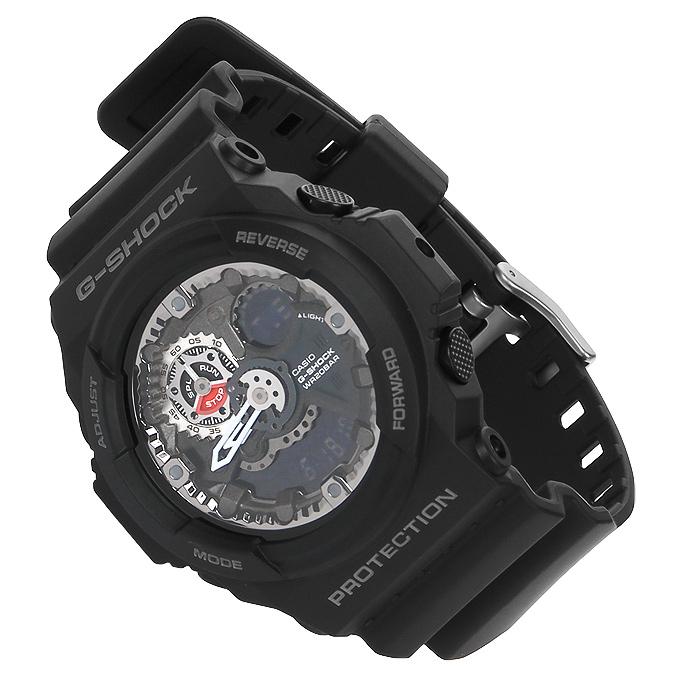 Наручные часы Casio GA-300-1AGA-300-1AНаручные часы Casio GA-300. Сверхмощная автоматическая подсветка LED: При недостаточной освещенности только поворот Вашего запястья включит яркую цветную подсветку часов. Ударопрочность: Ударопрочная конструкция защищает от ударов и вибрации. Устойчивость к воздействию магнитного поля: Часы созданы с защитой от воздействия магнитных полей. Функция мирового времени: Отображение текущего времени в основных городах и конкретных областях по всему миру. Функция секундомера - 1/100 сек - 1.000 часов: Прошедшее время измеряется с точностью в 1/100 секунды. Пределы измерения достигают 1000 часов. Таймер - 1/1 мин. - 24 часа: Для поклонников точности: таймеры обратного отсчета напомнят Вам о текущих или особенных событиях, издав звуковой сигнал в установленное время. Время можно предварительно настроить от 1 минуты и до 24 часов. Идеальное решение для людей, которым необходимо ежедневно принимать...