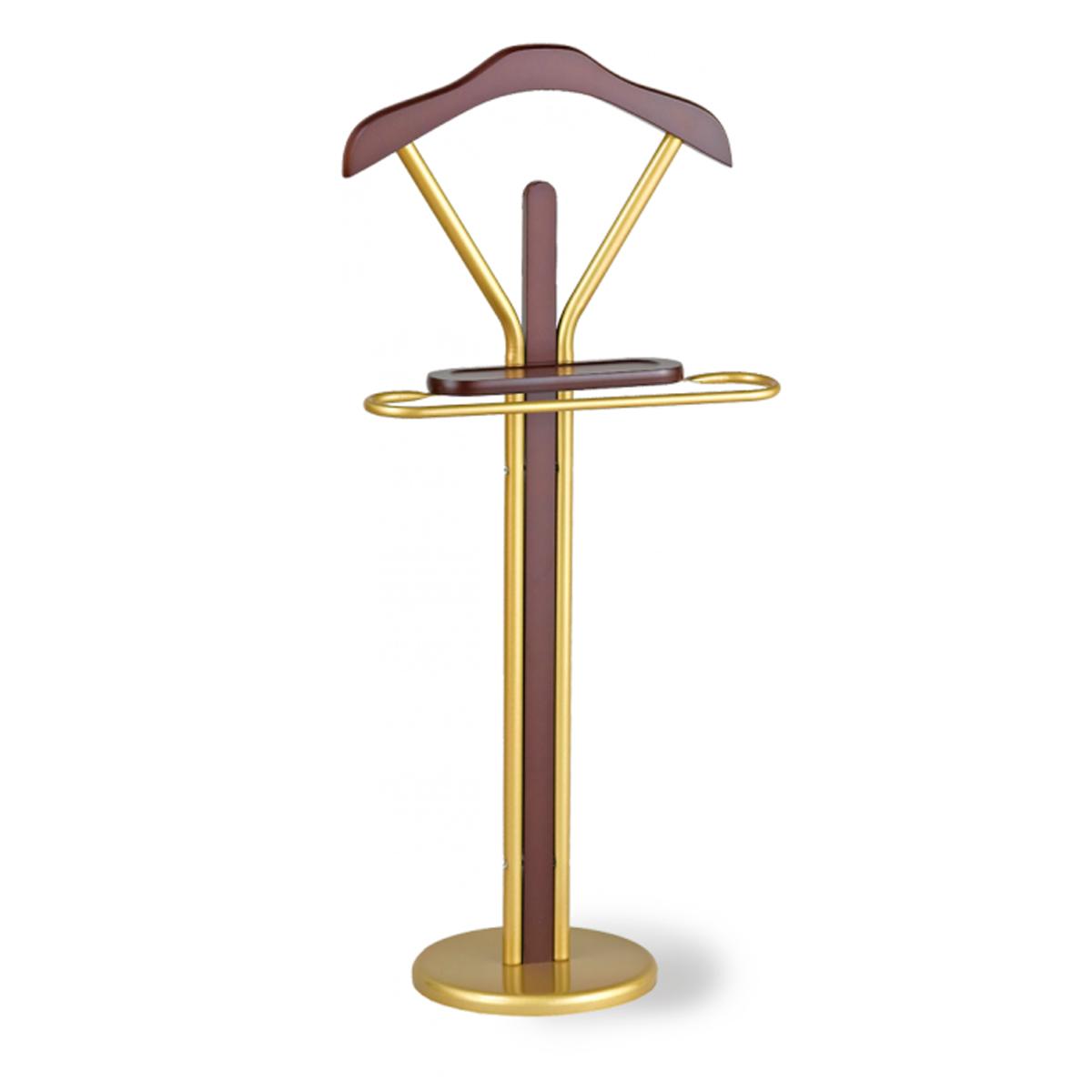 Вешалка напольная Sheffilton, цвет: золотистый, темный орех, 47 см х 28 см х 109 см