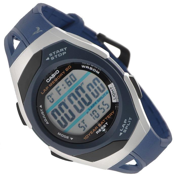 Наручные часы Casio STR-300C-2STR-300C-2Женские часы Casio STR-300C-1 для занятий спортом. Светодиодная подсветка обеспечивает освещение всего циферблата, при наклоне часов в сторону лица включается автоподсветка Одновременное отображение текущего времени в двух разных часовых поясах Максимальное время непрерывной работы секундомера 100 часов, шаг измерения 1/100. Режимы Lap и Split (результат промежуточного финиша и нарастающий итог). 60 ячеек памяти для сохранения результатов Функция шагомера, позволяющая отсчитывать количество пройденных шагов и на основании этих данных рассчитывать пройденную дистанцию Таймер с функцией повтора сигнала - секундомер обратного отсчета, при окончании отсчета издается 10-ти секундный сигнал, после чего автоматически возобновляется отсчет установленного времени. Максимальное время установки 100 часов, шаг измерения 1/1 минута Возможность установки 5 независимых будильников, дополнительно при установке будильника можно задать нужный день недели или...