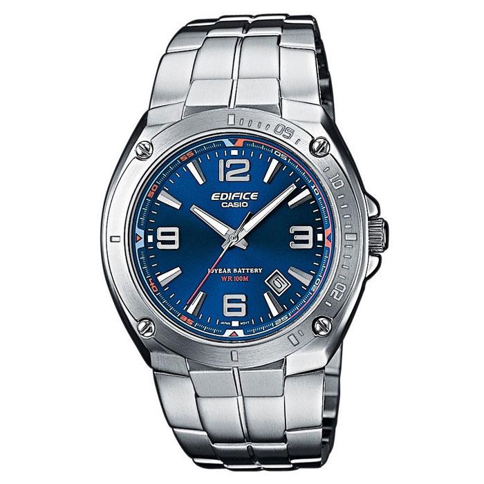 Наручные часы Casio EF-126D-2ASTR-300C-2Мужские часы Casio EF-126D. Светящееся покрытие обеспечивает длительную подсветку в темное время суток после короткого воздействия света. Прочное, устойчивое к царапинам минеральное стекло защищает часы от повреждений. Резьбовое соединение на основании корпуса оптимально защищает внутренний механизм часов и одновременно обеспечивает легкий доступ, например, при замене аккумулятора. Надежный, прочный и элегантный: браслет из нержавеющей стали придает Вашим часам классический вид. Всегда надежно: у этих часов есть особая безопасная предохранительная защелка, которая помогает предотвратить случайное расстегивание ремешка. Десять лет - один аккумулятор. Новые разработки в электронике обеспечивают значительно более низкое потребление энергии. Идеально подходит для плавания с маской и трубкой: часы являются водонепроницаемыми до 10 Бар/на глубине до 100 метров. Значение метров не относится к глубине погружения, но относится к атмосферному...