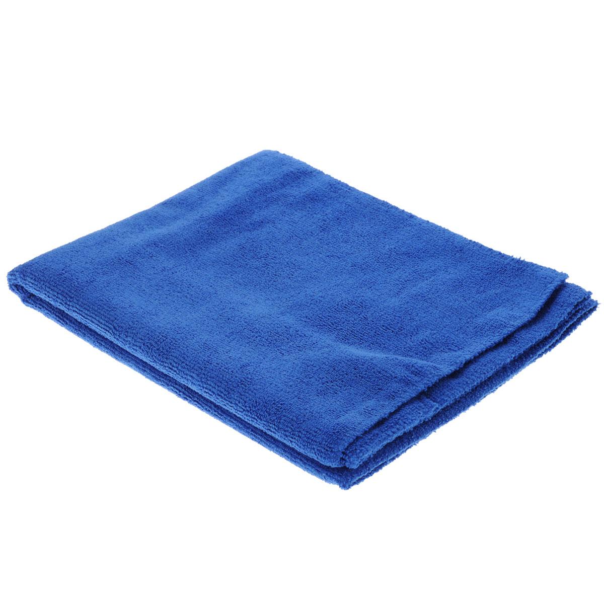 Тряпка для пола Eva, цвет: синий, 75 х 60 смЕ7301Тряпка для пола Eva выполнена из микрофибры. Благодаря микроструктуре волокон она проникает в поры материалов и удалять загрязнения без применения химических средств. Тряпка удерживает влагу, не оставляет разводов и ворса. Размер: 75 см х 60 см.
