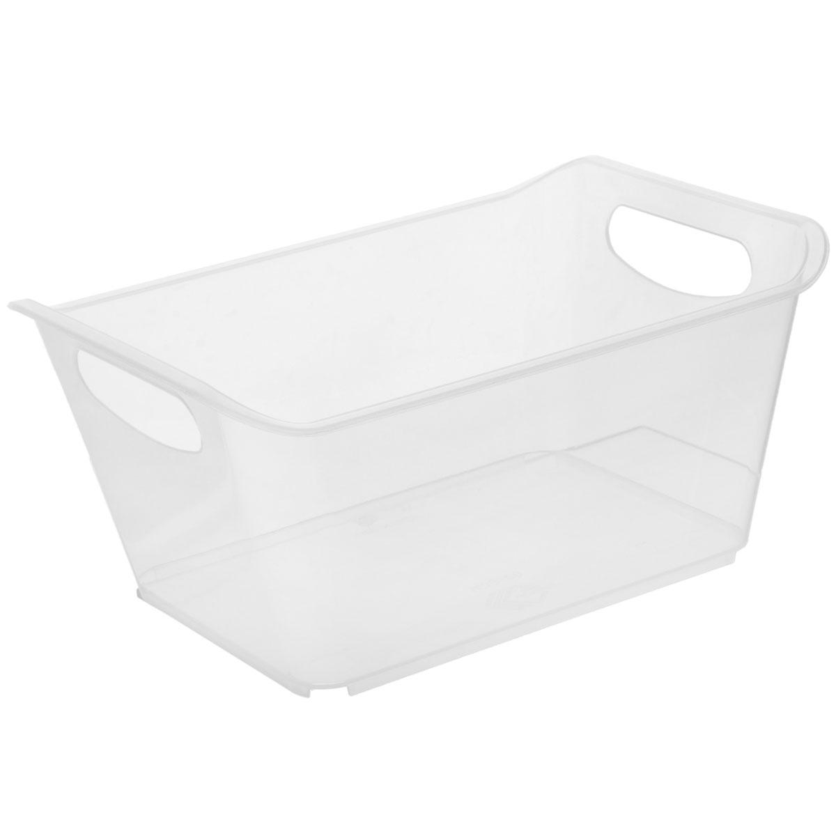 Контейнер Gensini, цвет: прозрачный, 27 х 19,5 х 12 см3331_прозрачныйКонтейнер Gensini выполнен из прочного пластика. Он предназначен для хранения различных мелких вещей в ванной, на кухне, даче или гараже, исключая возможность их потери. По бокам контейнера предусмотрены две удобные ручки для его переноски. Контейнер поможет хранить все в одном месте, а также защитить вещи от пыли, грязи и влаги.