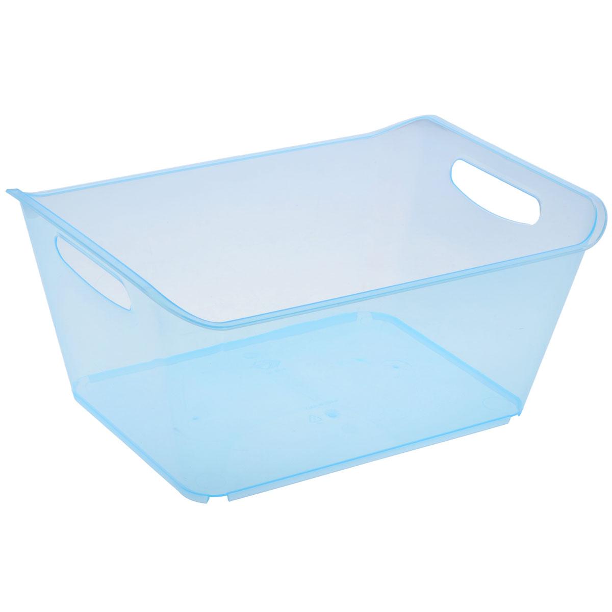 Контейнер Gensini, цвет: голубой, 10 л3332_голубойКонтейнер Gensini выполнен из прочного пластика. Он предназначен для хранения различных мелких вещей в ванной, на кухне, даче или гараже, исключая возможность их потери. По бокам контейнера предусмотрены две удобные ручки для его переноски. Контейнер поможет хранить все в одном месте, а также защитить вещи от пыли, грязи и влаги. Объем: 10 л.