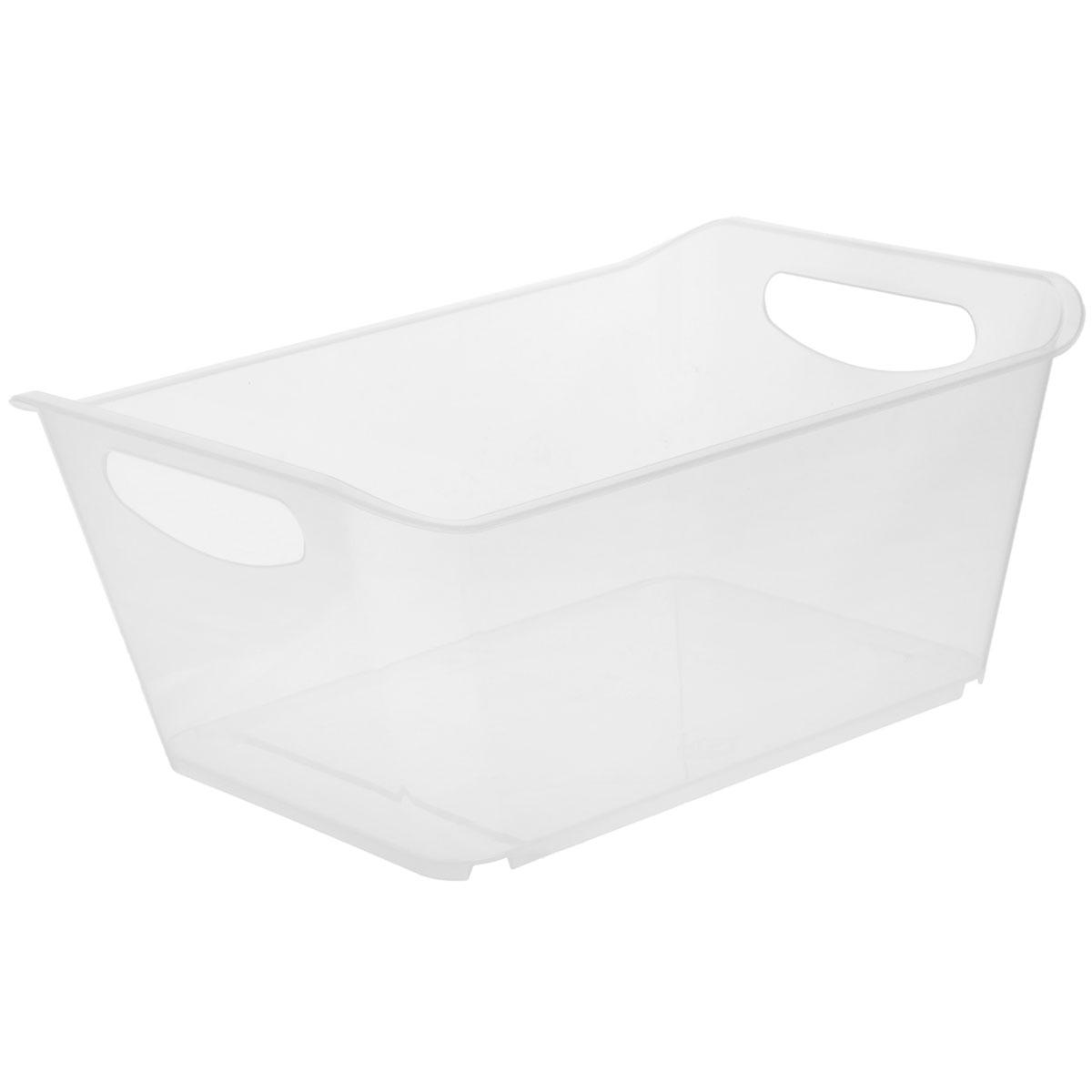 Контейнер Gensini, цвет: прозрачный, 10 л3332_прозрачныйКонтейнер Gensini выполнен из прочного пластика. Он предназначен для хранения различных мелких вещей в ванной, на кухне, даче или гараже, исключая возможность их потери. По бокам контейнера предусмотрены две удобные ручки для его переноски. Контейнер поможет хранить все в одном месте, а также защитить вещи от пыли, грязи и влаги. Объем: 10 л.