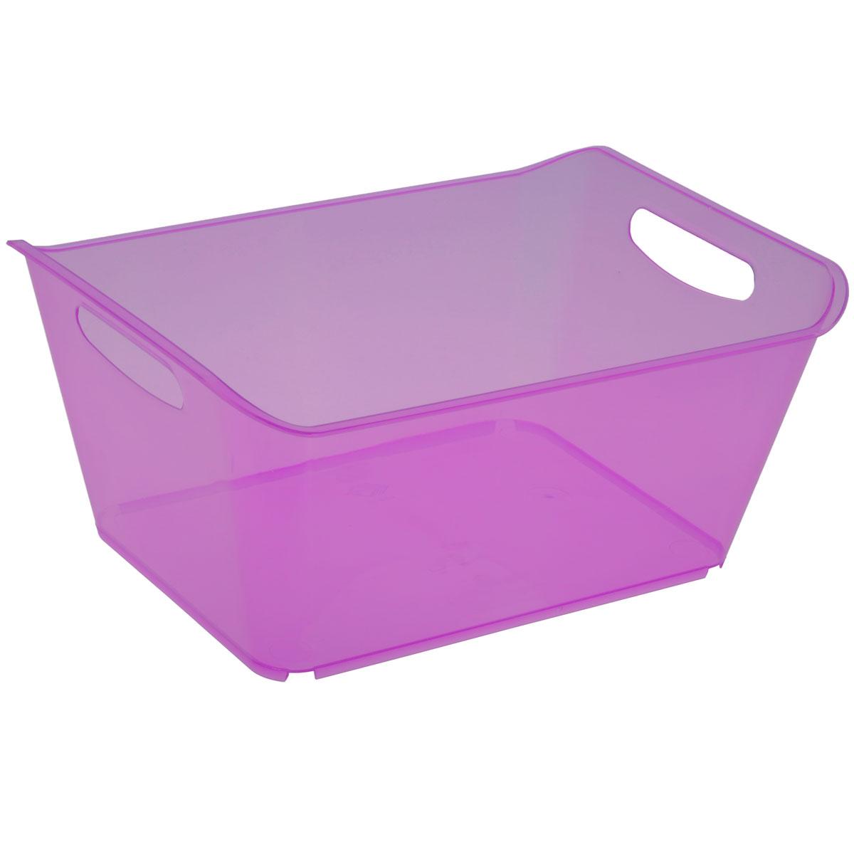 Контейнер Gensini, цвет: сиреневый, 18 л3333Контейнер Gensini выполнен из прочного пластика. Он предназначен для хранения различных мелких вещей в ванной, на кухне, даче или гараже, исключая возможность их потери. По бокам контейнера предусмотрены две удобные ручки для его переноски. Контейнер поможет хранить все в одном месте, а также защитить вещи от пыли, грязи и влаги. Объем: 18 л.
