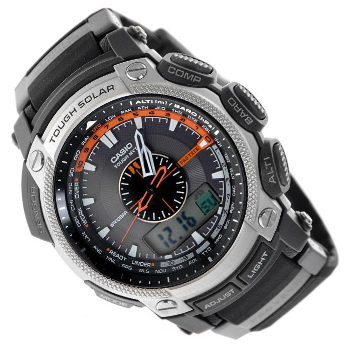 Наручные часы Casio PRW-5000-1EPRW-5000-1EМужские кварцевые часы Casio PRW-5000-1E.