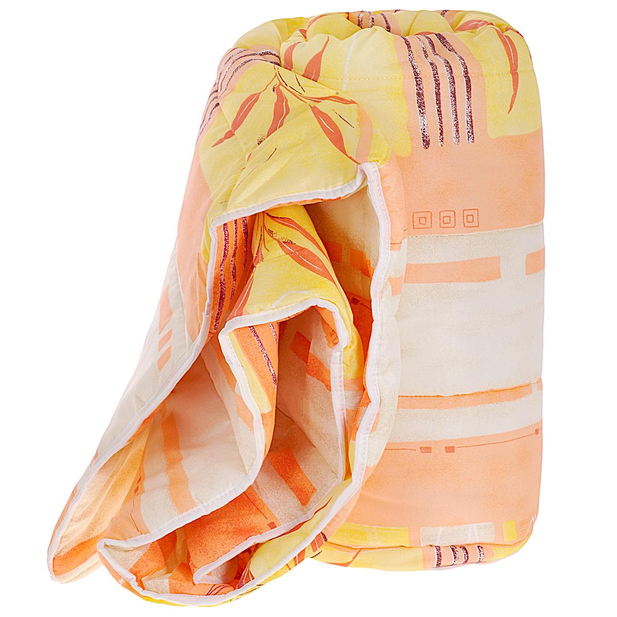 Одеяло всесезонное OL-Tex Miotex, наполнитель: полиэфирное волокно Holfiteks, цвет: желтый, оранжевый, 140 х 205 смМХПЭ-15-3Всесезонное одеяло OL-Tex Miotex создаст комфорт и уют во время сна. Стеганый чехол выполнен из полиэстера и оформлен красочным рисунком. Внутри - современный наполнитель из полиэфирного высокосиликонизированного волокна Holfiteks, упругий и качественный. Холфитекс - современный экологически чистый синтетический материал, изготовленный по новейшим технологиям. Его уникальность заключается в расположении волокон, которые позволяют моментально восстанавливать форму и сохранять ее долгое время. Изделия с использованием Холфитекса очень удобны в эксплуатации - их можно часто стирать без потери потребительских свойств, они быстро высыхают, не впитывают запахов и совершенно гиппоаллергенны. Холфитекс также обеспечивает хорошую терморегуляцию, поэтому изделия с наполнителем из холфитекса очень комфортны в использовании. Одеяло с современным упругим наполнителем Холфитекс порадует вас в любое время года. Оно комфортно согревает и создает отличный микроклимат. За одеялом легко...