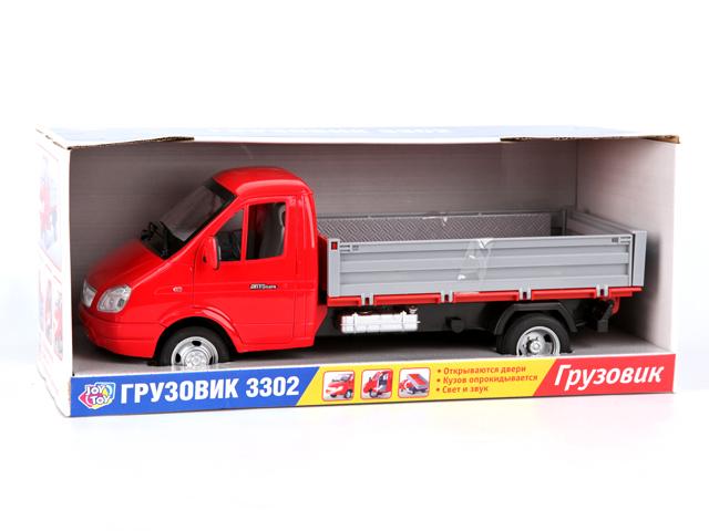 Joy Toy Модель автомобиля Газель бортоваяA532-H11094модель автомобиля JOY TOY ГАЗ-3302Производитель JOY TOYМодель ГАЗ-3302Тип игрушки модель автомобиля Цвет красный. Размеры в упаковке - 35 x 14 x 13 см Свойства / особенности - двери открываются- звуковые эффекты- кузов откидывается- световые эффекты