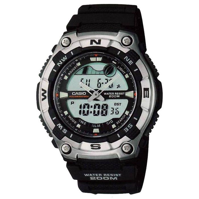 Наручные часы Casio AQW-100-1AAQW-100-1AНаручные часы Casio AQW-100-1A. Электролюминесцентная подсветка обеспечивает освещение всего циферблата, благодаря наличию функции задержки, после отпускания кнопки освещение горит еще несколько секунд. Необритовое светонакопительное покрытие обеспечивает длительное послесвечение в темноте даже после кратковременного нахождения на свету. Секундомер с точностью показаний 1/100 сек и максимальным временем измерения 24 часа с отображением максимального измеренного результата. Часы упакованы в фирменную коробку с названием бренда.
