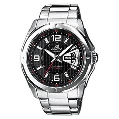Наручные часы Casio EF-129D-1AEF-129D-1AМужские часы Casio EF-129D-1A. Необритовое покрытие обеспечивает длительное свечение даже после короткого нахождения на свету Указание текущей даты и дня недели Время работы от одной батареи до 3 лет Устойчивое к царапинам минеральное стекло сферической формы Надёжная застёжка браслета Водонепроницаемый корпус позволяет плавать и совершать погружения с нырятельной трубкой Точность +/-20 с в месяц