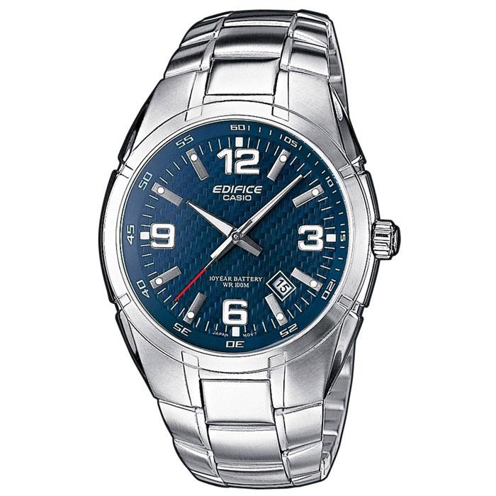 Наручные часы Casio EF-125D-2EF-125D-2AМужские часы Casio EF-125D. Светящееся покрытие обеспечивает длительную подсветку в темное время суток после короткого воздействия света Прочное, устойчивое к царапинам минеральное стекло защищает часы от повреждений Поверхность стекла часов является выпуклой. Это обеспечивает высокий уровень прочности и устойчивости к давлению Резьбовое соединение на основании корпуса оптимально защищает внутренний механизм часов и одновременно обеспечивает легкий доступ, например, при замене аккумулятора Надежный, прочный и элегантный: браслет из нержавеющей стали придает Вашим часам классический вид Всегда надежно: у этих часов есть особая безопасная предохранительная защелка, которая помогает предотвратить случайное расстегивание ремешка Десять лет - один аккумулятор. Новые разработки в электронике обеспечивают значительно более низкое потребление энергии Идеально подходит для плавания с маской и трубкой: часы являются водонепроницаемыми до 10...