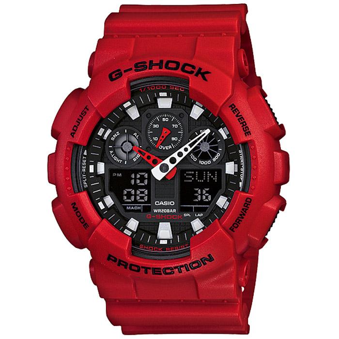 Наручные часы Casio GA-100B-4AGA-100B-4AВодонепроницаемые и противоударные часы Casio GA-100. Длина ремешка с учетом корпуса 24,5 см. Ширина ремешка 2,2 см. Диаметр корпуса 5 см.