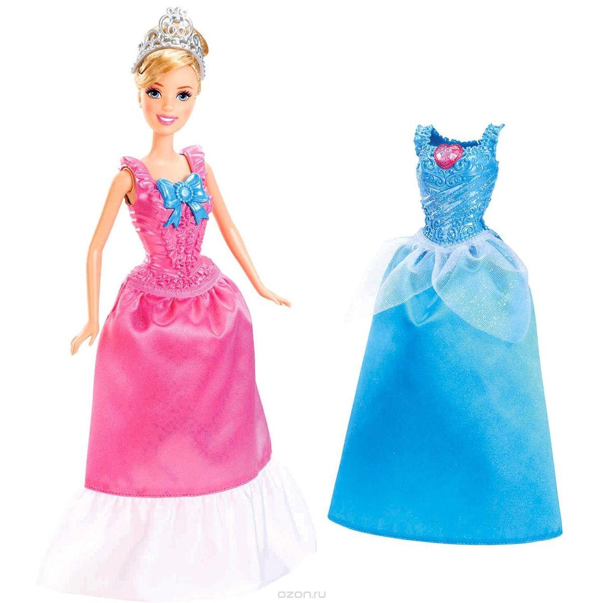 Disney Princess Кукла MagiClip Золушка цвет платьев розовый голубойX9358_zolushka/astX9357 + ПОДАРОККукла Disney Princess MagiClip: Золушка покорит вашу дочурку с первого взгляда! Кукла одета в роскошное платье голубого цвета. Белокурые волосы красавицы собраны в оригинальную прическу и украшены королевской тиарой. В комплект с куклой входит дополнительное розовое платье. С помощью особой конструкции и очень мягкого материала наряды куклы очень легко снимаются и надеваются. Просто сожмите платье в области талии, и оно раскроется, позволяя быстро и легко надеть его на куколку. Такая куколка очарует вас и вашу дочурку с первого взгляда! Ваша малышка с удовольствием будет играть с красавицей Золушкой, проигрывая сюжеты из мультфильма или придумывая различные истории. Порадуйте свою малышку таким замечательным подарком! УВАЖАЕМЫЕ КЛИЕНТЫ! Обращаем ваше внимание на тот факт, что к товару прилагается один подарок. Подарки поставляются в ассортименте в одном из приведенных вариантов. Поставка осуществляется в зависимости от...