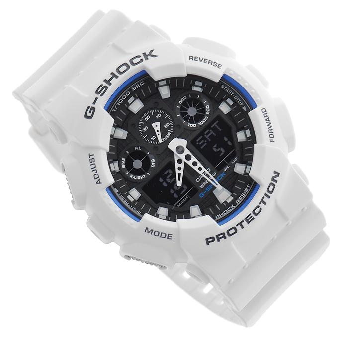 Наручные часы Casio GA-100B-7AGA-100B-7AВодонепроницаемые и противоударные часы Casio GA-100. Длина ремешка с учетом корпуса 24,5 см. Ширина ремешка 2,2 см. Диаметр корпуса 5 см.
