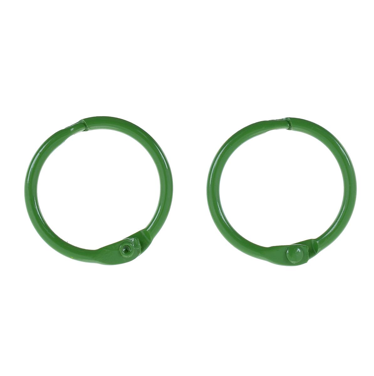 Кольца для скрап-альбома ScrapBerrys, цвет: зеленый, диаметр 25 мм, 2 штSCB2504725Кольца ScrapBerrys изготовлены из металла и предназначены для скрепления альбомов, блокнотов, скетч-буков, выполненных в технике скрапбукинг. В наборе - 2 кольца. Скрапбукинг - это хобби, которое способно приносить массу приятных эмоций не только человеку, который этим занимается, но и его близким, друзьям, родным. Это невероятно увлекательное занятие, которое поможет вам сохранить наиболее памятные и яркие моменты вашей жизни, а также интересно оформить интерьер дома. Диаметр кольца: 25 мм. Ширина кольца: 2 мм.