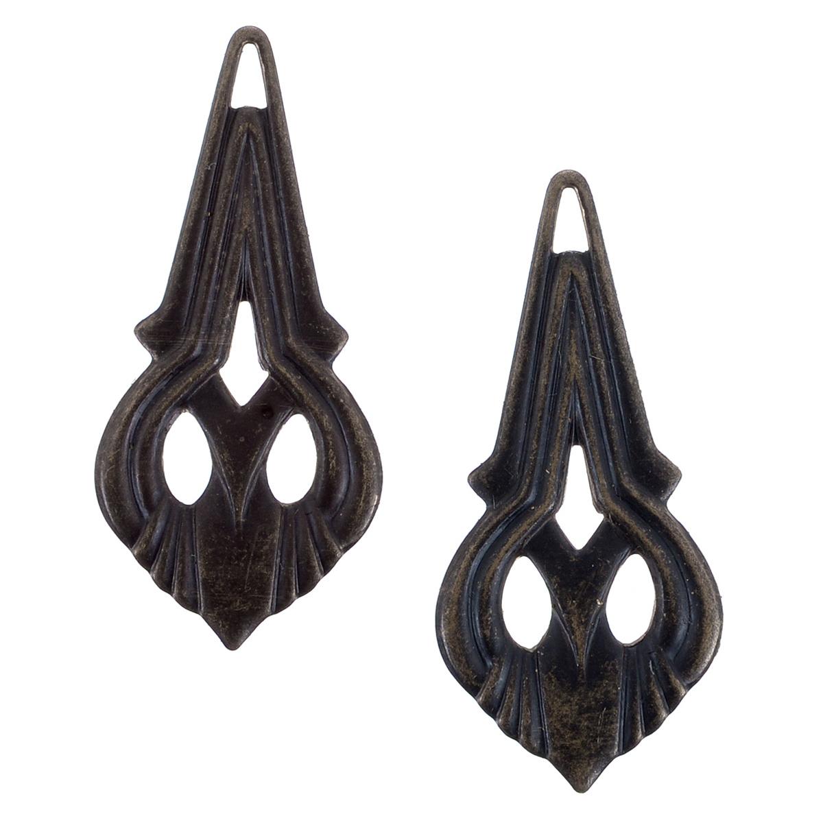 Набор подвесок Vintaj Королевский узор, 35 мм х 16 мм, 2 штDP171RRНабор Vintaj Королевский узор состоит из 2 декоративных подвесок, изготовленных из металла и предназначенных для декорирования в различных техниках. С их помощью вы сможете украсить альбом, одежду, подарок и другие предметы ручной работы. Декоративные подвески имеют оригинальный дизайн. Скрапбукинг - это хобби, которое способно приносить массу приятных эмоций не только человеку, который этим занимается, но и его близким, друзьям, родным. Это невероятно увлекательное занятие, которое поможет вам сохранить наиболее памятные и яркие моменты вашей жизни, а также интересно оформить интерьер дома. Размер элемента: 35 мм х 16 мм.