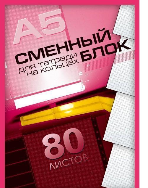 Academy Style Сменный блок в клетку, 80 листов, формат А5 ( 4847 )