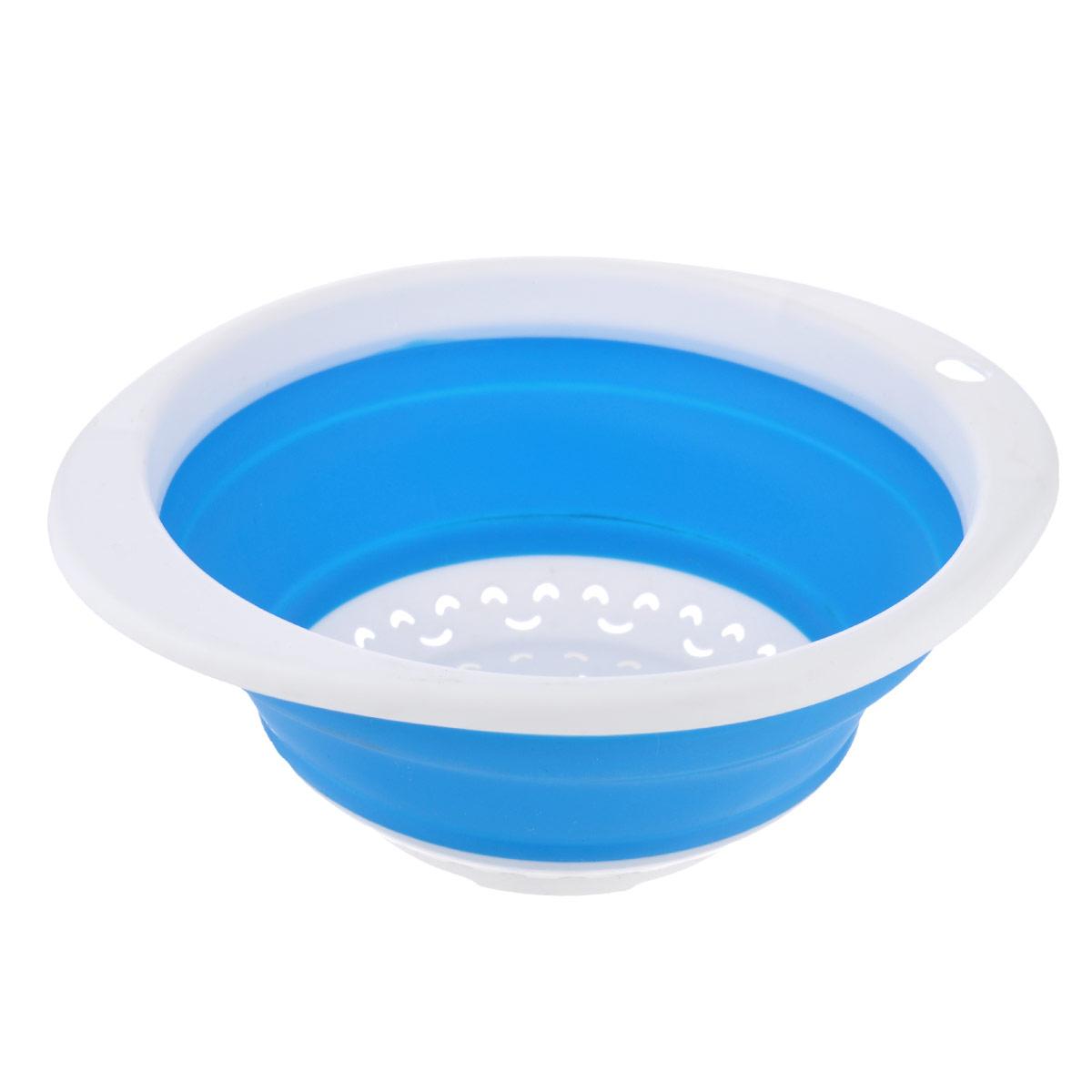 Дуршлаг складной Oriental Way, цвет: голубой, 23 х 21 см