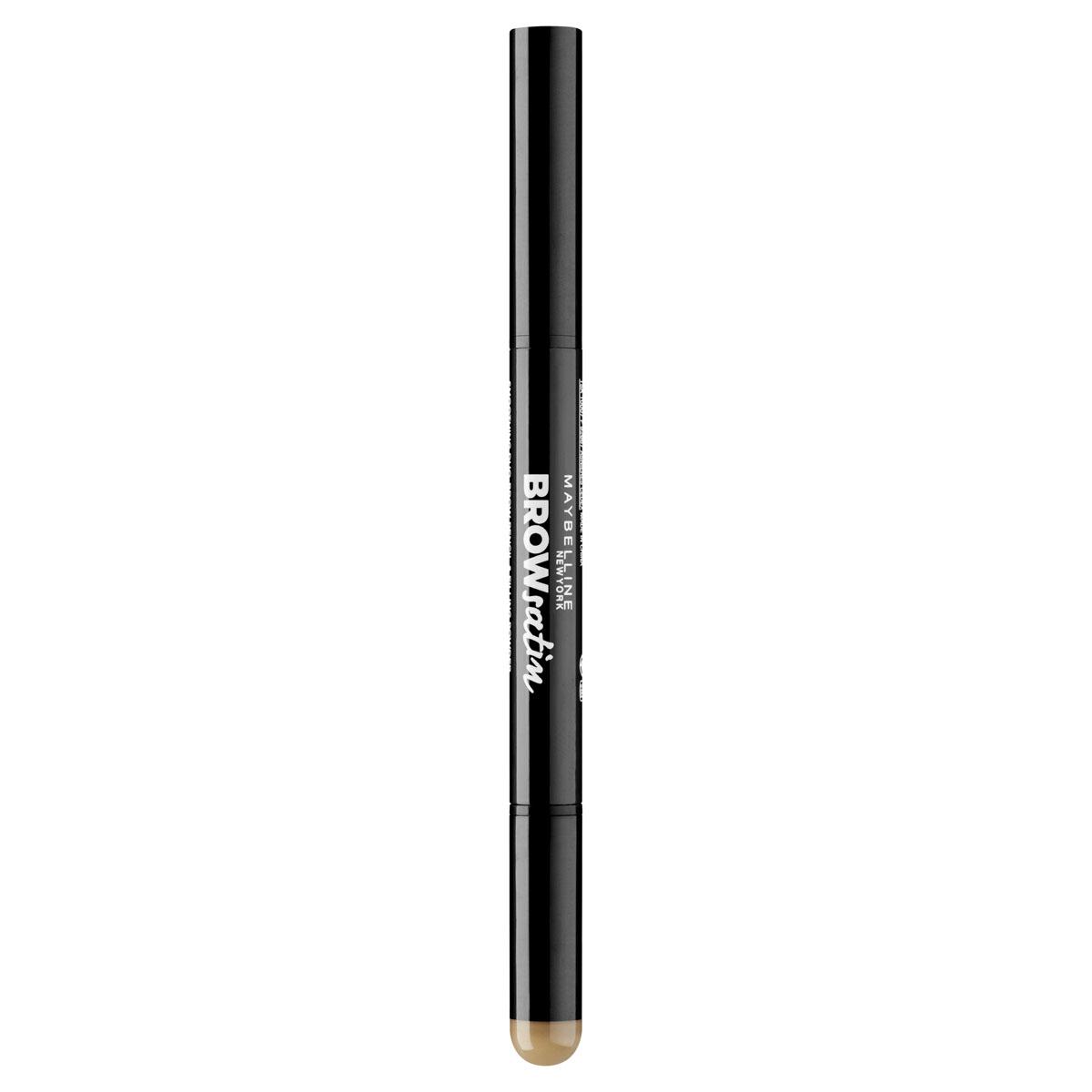 Maybelline New York Карандаш для бровей Brow Satin, карандаш + заполняющая пудра, оттенок 01, Темный блонд, 7,1 гB2454003Фиксирующий карандаш толщиной 2 миллиметра придает форму бровям. Заполняющая пудра с удобным спонжем делает нанесение равномерным, а растушевку между волосками простой и приятной. Теперь твои брови просто WOW!