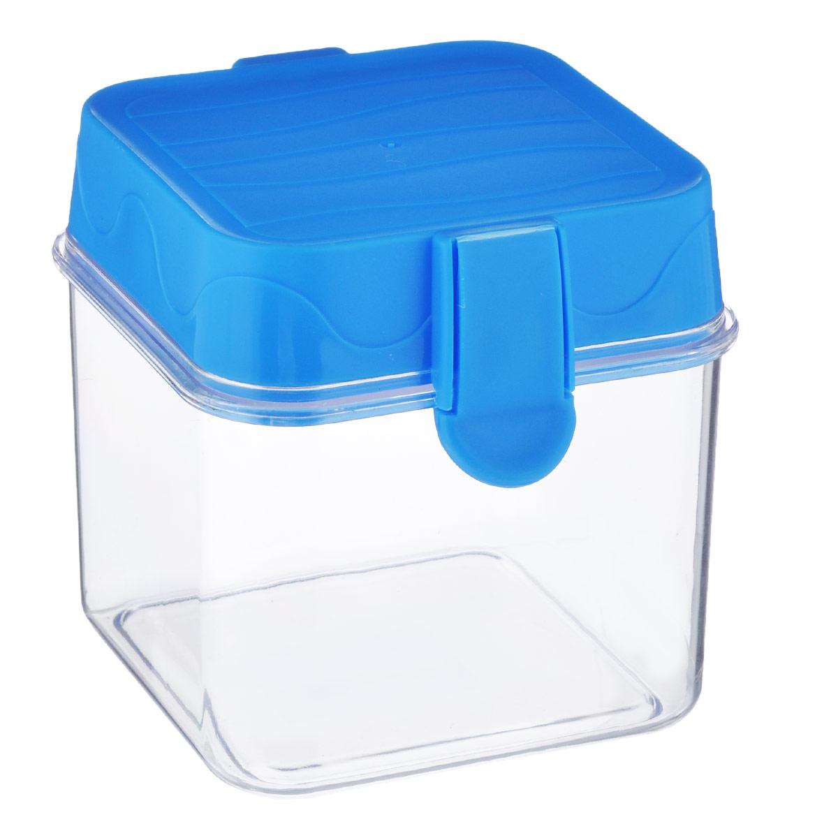 Банка для сыпучих продуктов Oriental Way, цвет: прозрачный, голубой, 650 мл7819_голубойБанка для сыпучих продуктов Oriental way, изготовленная из высококачественного пластика, станет незаменимым помощником на любой кухне. В ней будет удобно хранить сыпучие продукты, такие как чай, кофе, соль, сахар, крупы, макароны и прочее. Емкость плотно закрывается пластиковой крышкой с помощью двух защелок (клипс). Яркий дизайн банки позволит украсить любую кухню, внеся разнообразие, как в строгий классический стиль, так и в современный кухонный интерьер.